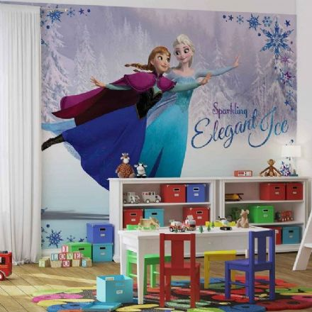 Anna & Elsa paper wallpapers and murals